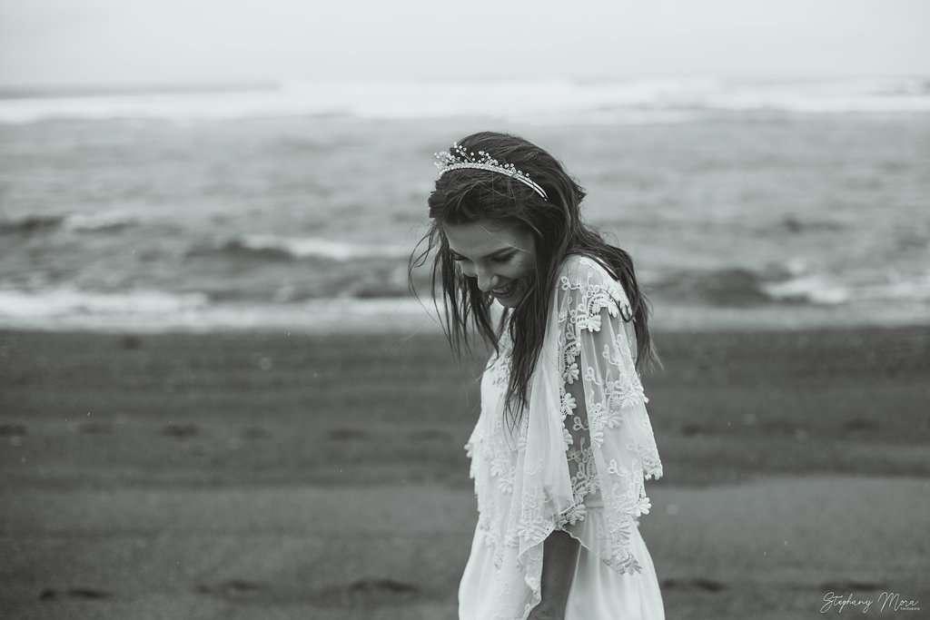 plage noir et blanc