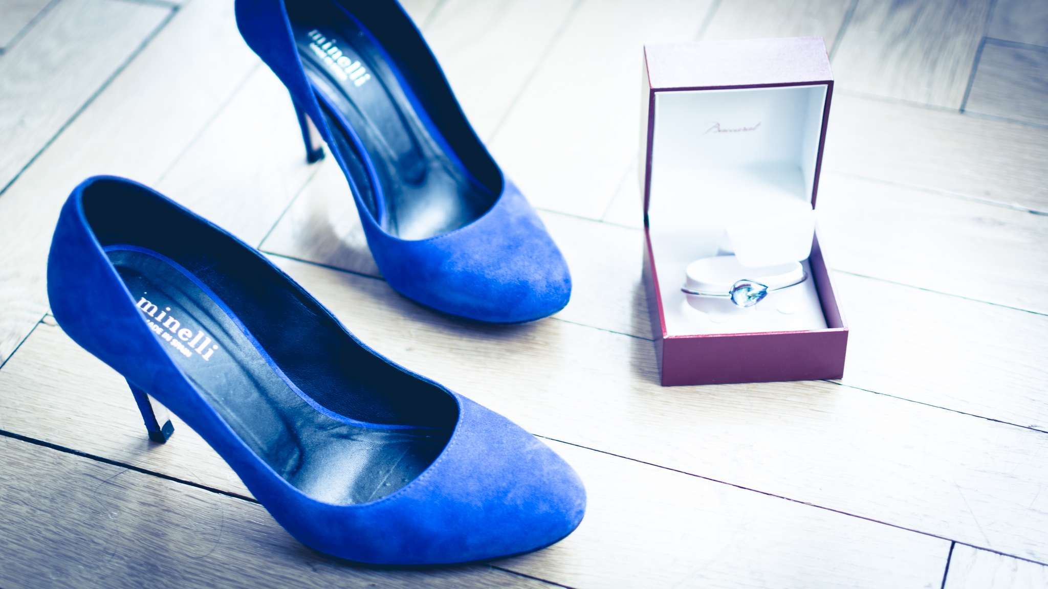chaussures bleues mariage Irène