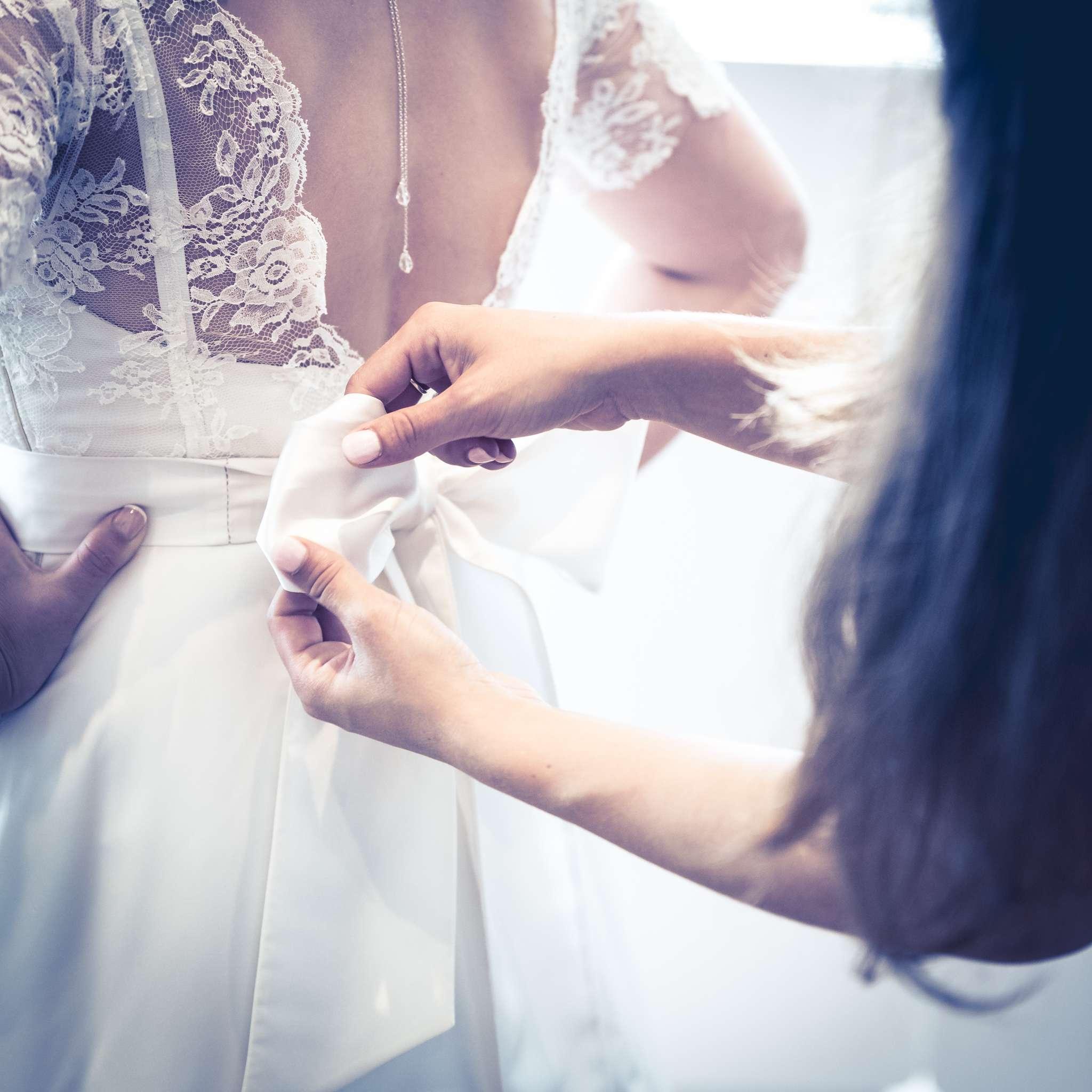 habillage robe de mariée Irène
