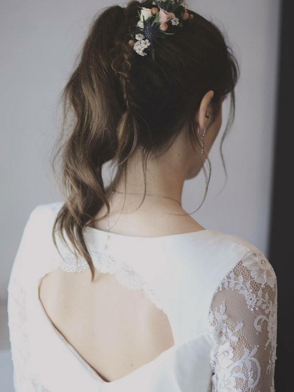Détail robe Margot by la petite mariée de sopite