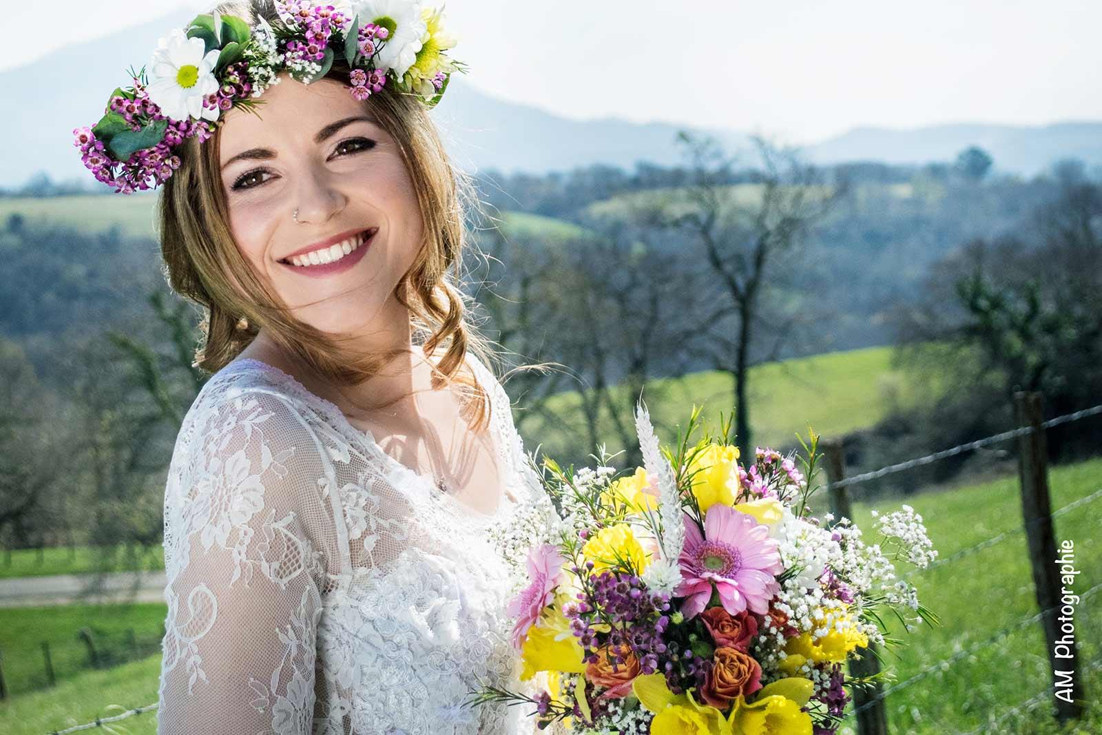 Robe Amaïa par La petite mariée de sopite créateur de robes de mariées au Pays basque