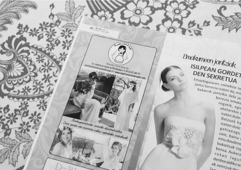 photo robes de mariées dans revue basque