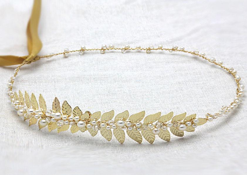 couronne mariée dorée