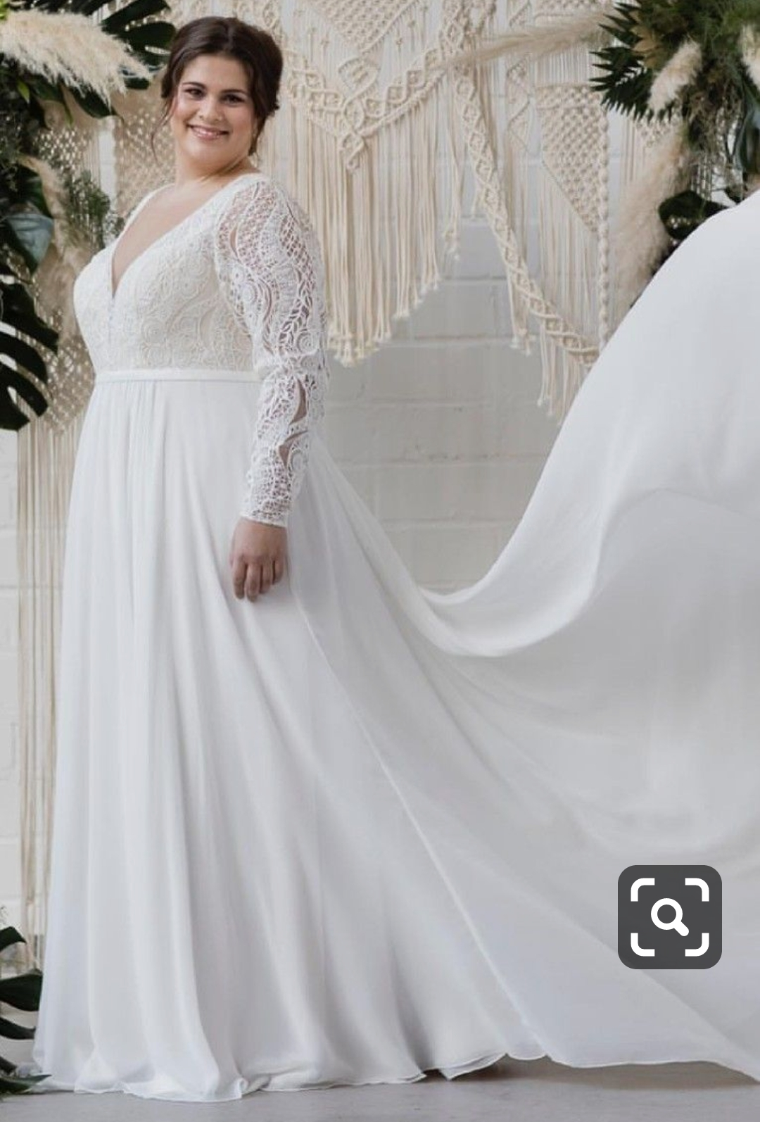 robe de mariée ronde, grande taille
