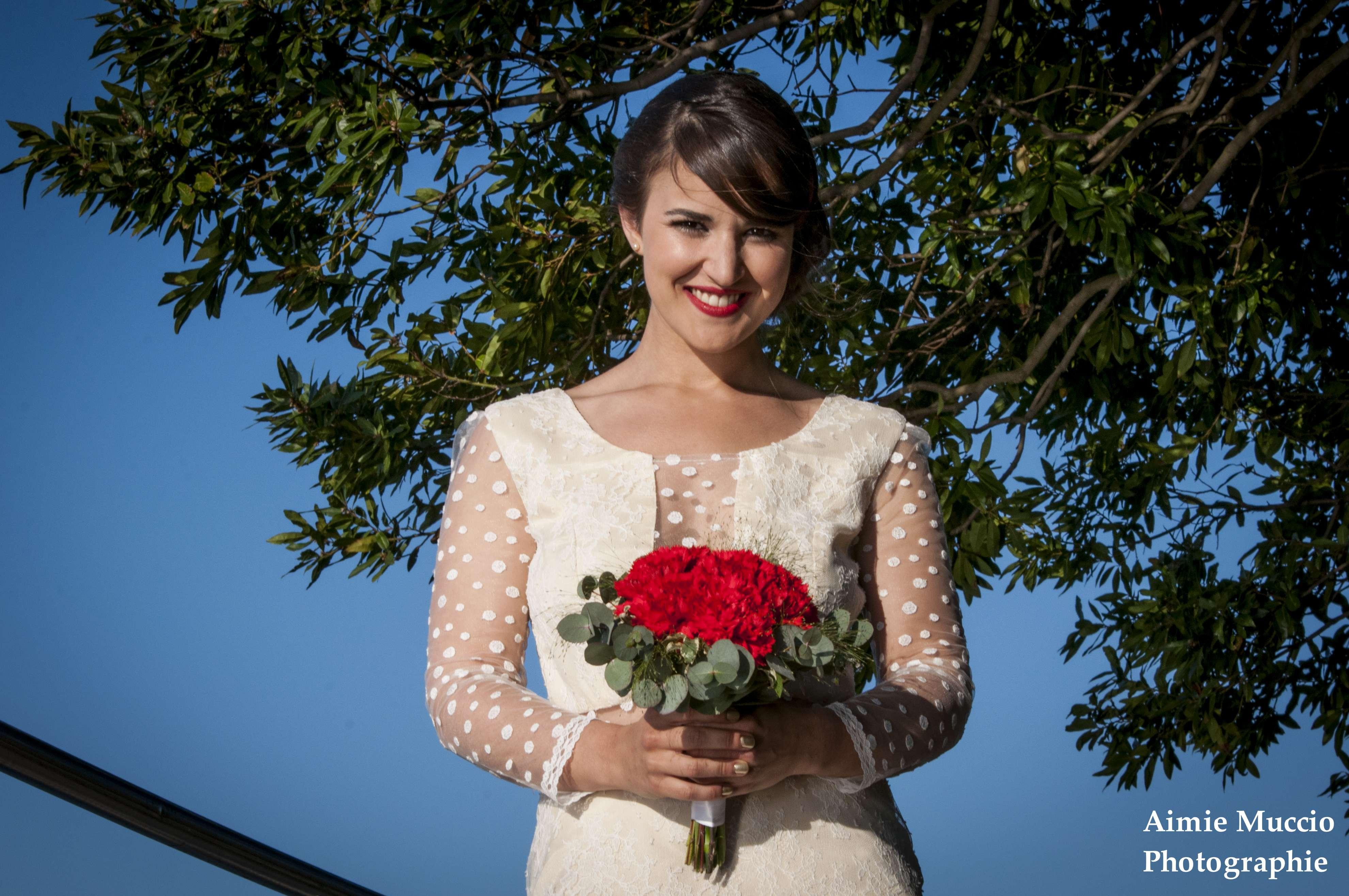 robe de mariée ciel bleu