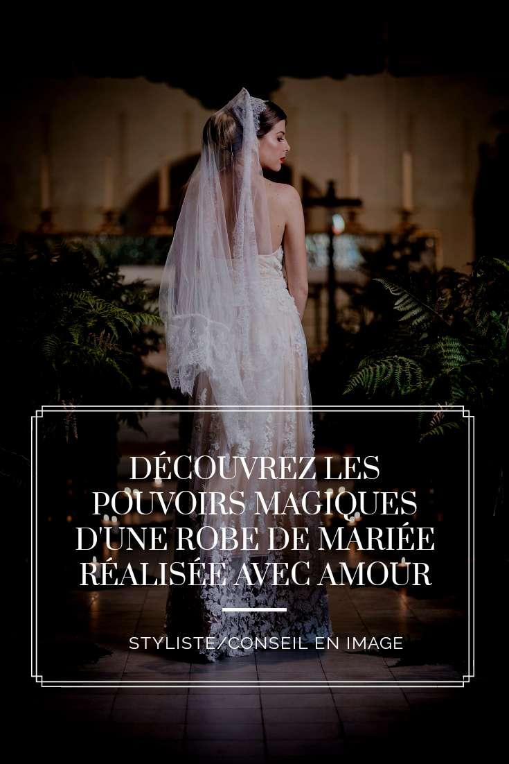 Découvrez les pouvoirs magiques d'une robe de mariée réalisée avec amour