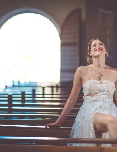 robe de mariée église